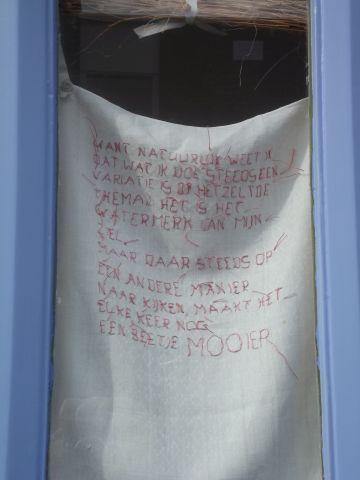 gedicht voor het raam